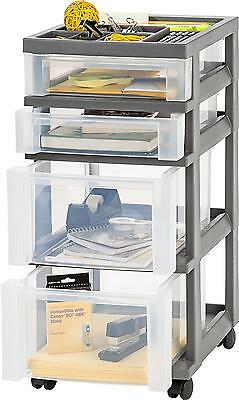 Tool Carts On Wheels With Drawers Storage Organizer Top Glide Caster Mobility