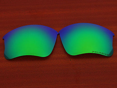 Replacement Green Blue Polarized Lenses for Flak Jacket XLJ Sunglasses