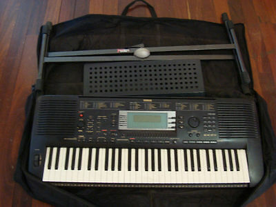 Yamaha PSR-630 Electronic Keyboard (c/w Stand/Manual/Music Books/Disks)