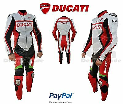 Ducati Corse Motorbike Racing Leather Suit For Men Two Piece/Ridding Gear