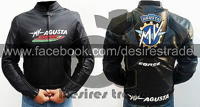 MV Agusta Motorbike Leather Jacket/ Real Leather Jacket / Racing Leather Jacket