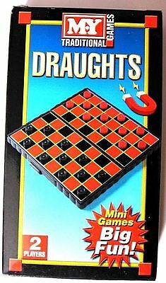 Draughts Traditional Magnetic Travel Board Game Mini Board Game Travel Pocket