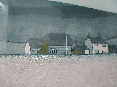 John Brunsdon etching limited edition 6/150 Chesil Beach Dorset 1976