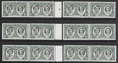 SOUTHERN RHODESIA  1/2d  GREEN  ROYAL VISIT   12 STAMPS  MUH