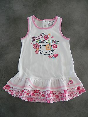 Robe A Volants Blanche Et Rose Hello Kitty Taille 18 Mois