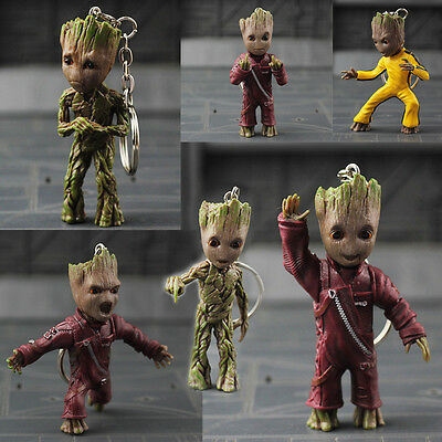Guardians of the Galaxy  Baby Groot Body Knocker on Stereo Toy Gift keychains