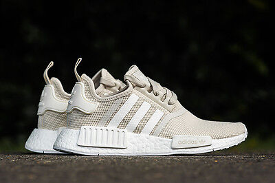 ADIDAS NMD R1 Runner Talc Off White Cream Sand S76007 Women ... 8e0b0fa61