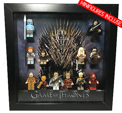 Cornice Vetrina Display Case Lego Compatibile Game Of Thrones + Personaggi