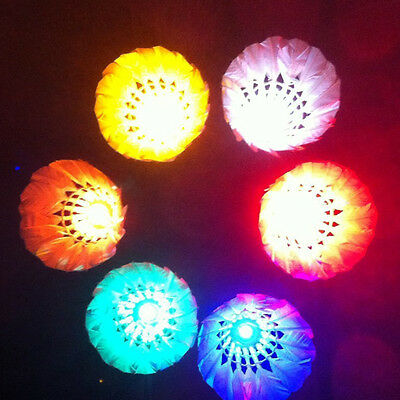 Sport Colorful LED Badminton for Dark Night Feather Shuttlecock Lighting Durable