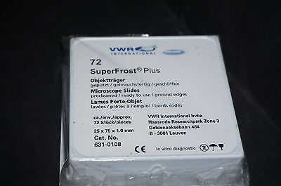 Microscope Slides White Frosted Superfrost Plus Ground Edge 72 Pk