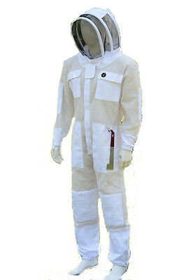 Beekeeping 3 Layer Ventilated Ultra Breeze Mesh Overalls Cool Bee Hive Full Suit