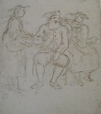1700`s Old Master ENGLISH Pen DRAWING Style of William HOGARTH