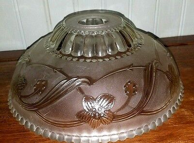 VTG Mid-Century Clear Glass Ceiling Lamp Light Fixture Shade