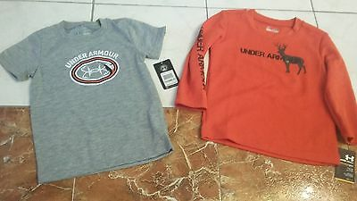 NWT BOYS Under Armour lot t-shirt + long sleeve top size 18 months - 24 months