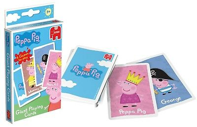 Children's Card Games Peppa Pig Giant playing cards 4 games to play 3+