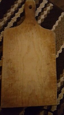 Vintage Solid Wood Cutting Plank Signed Munising Cutting Board