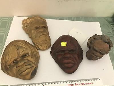 Lot #0215 Four Indigenous Faces Used