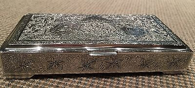 Persian Silver Cigarette or Trinket Box, Iran