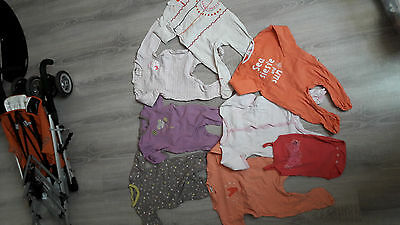 lot de 6 pyjamas en coton fille 12 mois