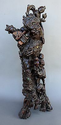 """Important 36"""" / 91cm Imperial Chinese Zitan Carving"""