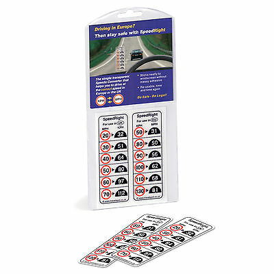 Speed Right Transparent MPH KPH Speed Converter Windscreen Reminder Sticker