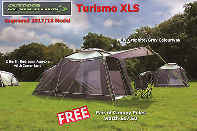 Outdoor Revolution Turismo XLS Driveaway Awning 2017 Model -  FREE Canopy Poles