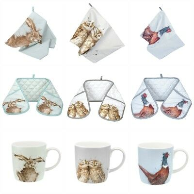 Wrendale Designs - Owl, Hare, Pheasant - Tea Towel, Double Oven Gloves or Mugs