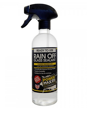 Power Maxed Rain Off Glass Window Perfect Wet weather Visibility Sealant 500ml