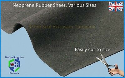 Black Neoprene Plain Sponge/foam Rubber Sheet Various Sizes & Thicknesses