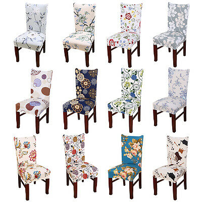 Removable Elastic Stretch Slipcovers Short Dining Room Chair Seat Cover D2A1