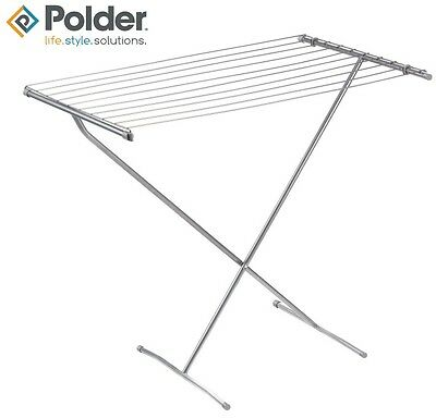 Polder Deluxe Free Standing Dryer Airer Clothes Laundry Washing Drying Wing Rack