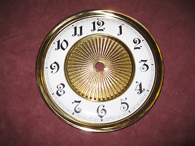 "Replacement Brass CLOCK 6"" Dial/Bezel with Enamel Face MADE IN GERMANY"