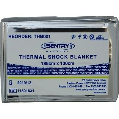 Sentry Thermal Shock Blanket 1850x1300mm Silver