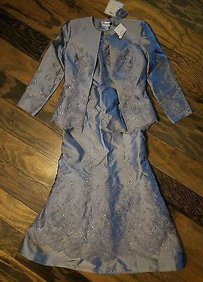 nwt $750 sz 8 Jovani Mother of the Bride Dress Gown PLATINUM COLLECTION formal
