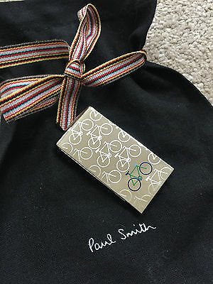 Paul Smith Silver Tone Bicycle Motif Money Clip With Logo Dustbag