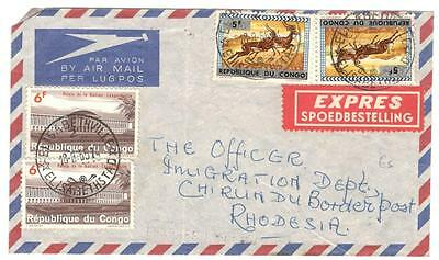 a199 Belgian Congo Airmail cover to Rhodesia