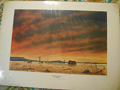 Signed Print:  Evening of Enchantment by E. G. Thompson