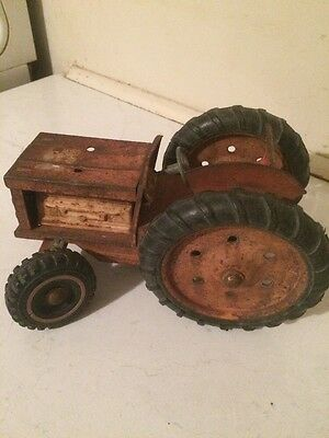 Vintage Old Large Size Tin Toy Australian Made Tractor