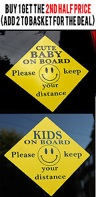 External Kids Baby On Board Vehicle Window Door Safety Car Warning Sign Sticker
