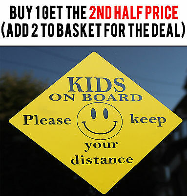 External Kids On Board Vehicle Window Back Door Safety Car Warning Sign Sticker