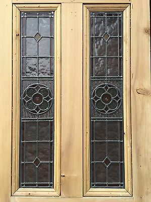 Victorian Stained Glass Door Reclaimed Period Old Antique Lead Vestibule