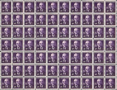 1960 - JOHN FOSTER DULLES - Vintage Full Mint Sheet of 70 U.S. Postage Stamps
