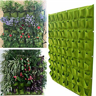 72 Pocket Wall Balcony Herbs Indoor Vertical Garden Hanging Outdoor Planter Bag