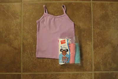 Hanes Toddler Girls 5 Pack Girls Camis/undershirts Size 2T-3T New!