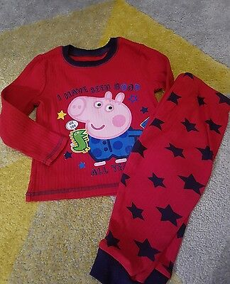 peppa pig 12-18 months pyjamas snuggle fit mothercare