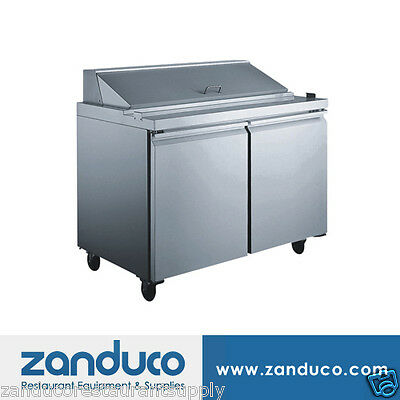 """Zanduco 9.47 Cu Ft 48"""" Stainless Steel Refrigerated Prep Table PT-CN-1194"""