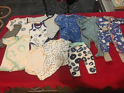 Bulk Baby Bonds Size 000 Zippys 0-3mths Boys Unisex 12 Pieces