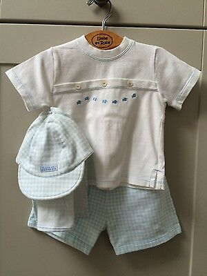 Emile et Rose Boy Short and Tshirt set Age 3-6 months