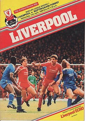 1988 Liverpool v Nottingham Forest Football Programme