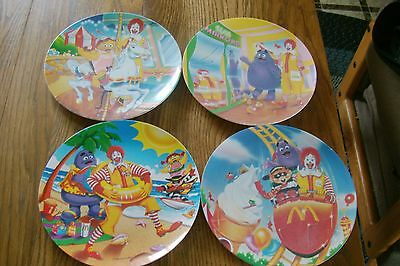 Vintage 1993 PMC McDonald's 4 pc.s collector Plates Grimace Ronald Nuggets happy